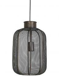 Bronzen kippengaas hanglamp
