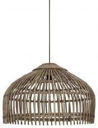 Bruine bamboe hanglamp