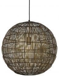 Bruine bolvormige hanglamp