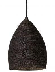 Bruine hanglamp met gouden binnenzijde