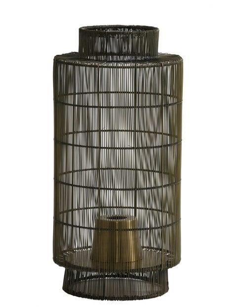 Bruine kooi tafellamp