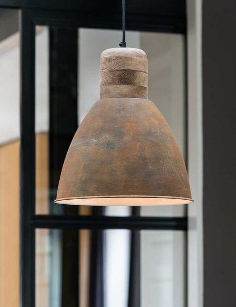 Bruine-landelijke-hanglamp-met-hout-1