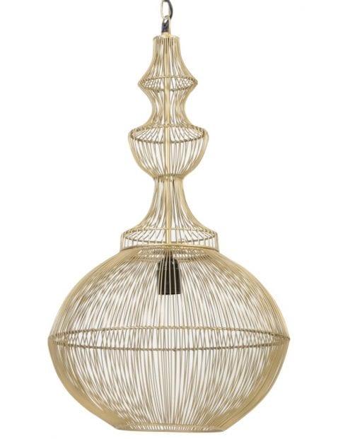 Chique gouden draadlamp