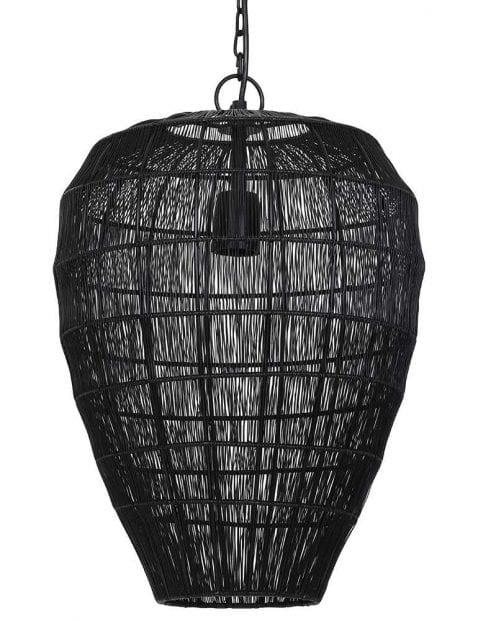 Doorzichtige hanglamp zwart