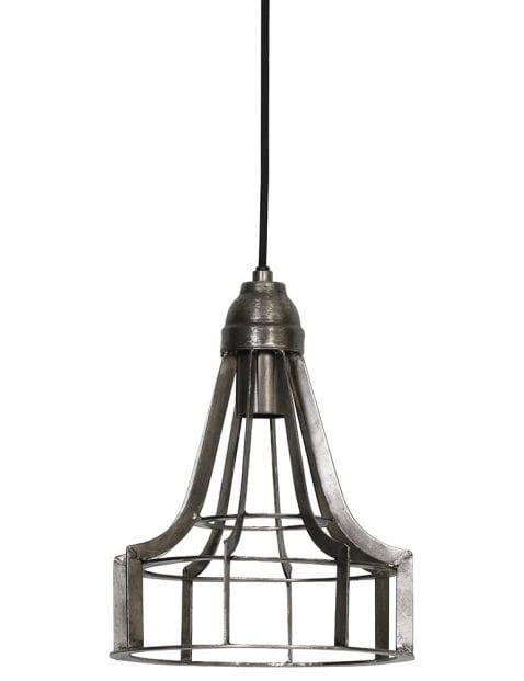 Geborsteld stalen hanglamp
