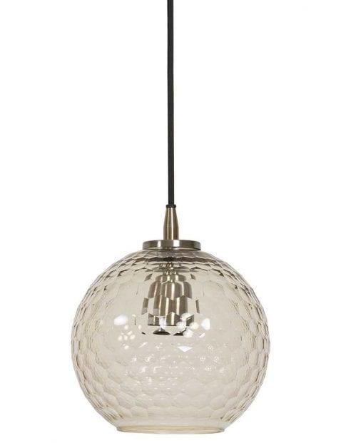 Glazen hanglamp met patroon