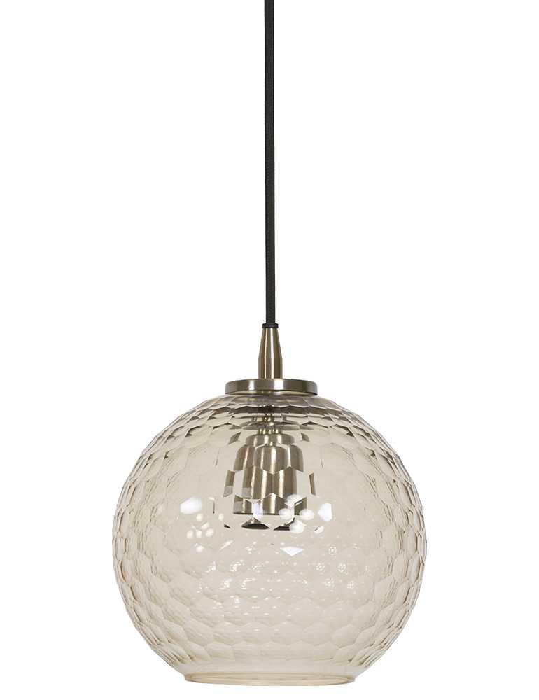 glazen hanglamp met patroon light&living dione