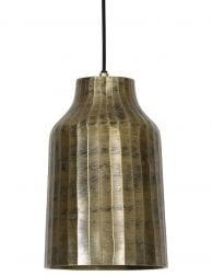 Gouden hanglamp industrieel