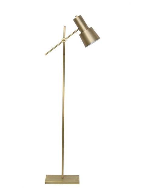 Gouden moderne vloerlamp