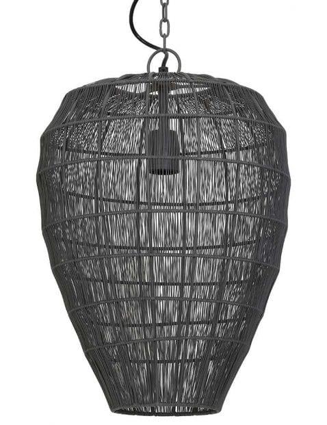Grijze doorzichtige hanglamp