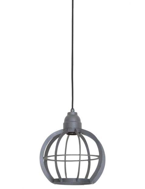 Grijze ronde hanglamp