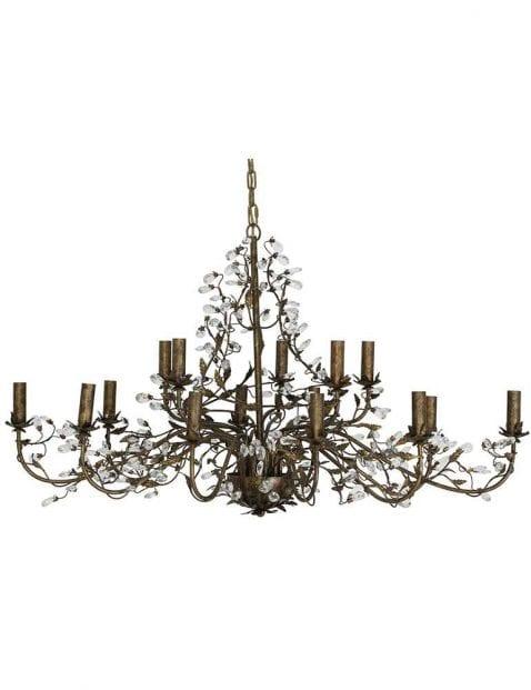 Grote chique bronzen hanglamp