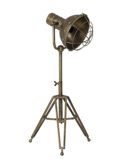 Grote driepoot tafellamp brons
