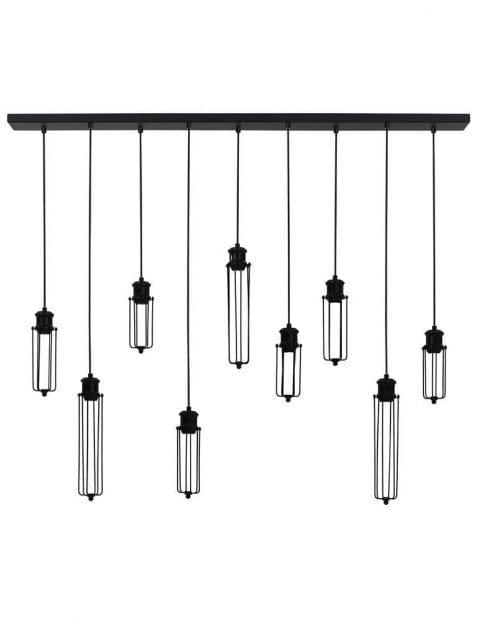 Grote hanglamp met 9 lichtjes