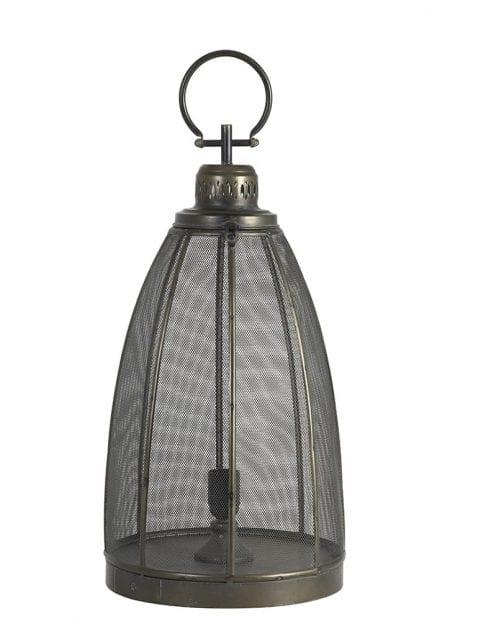 Grote lantaarnlamp met gaas brons