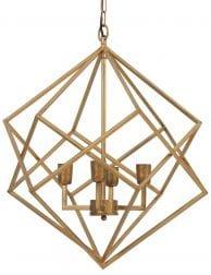Hippe meerlichts hanglamp goud