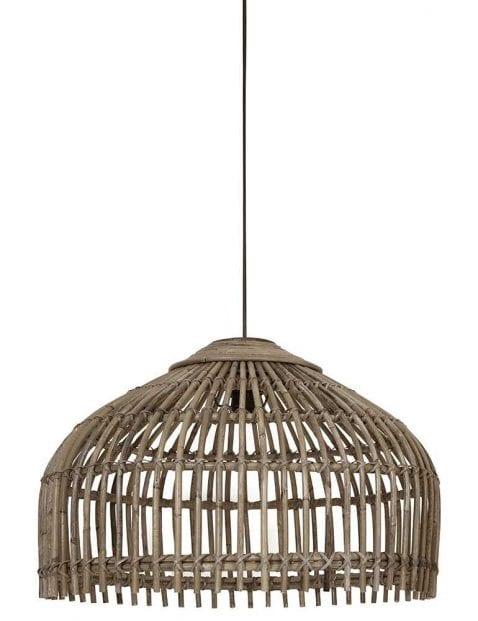 Houten hanglamp bamboe