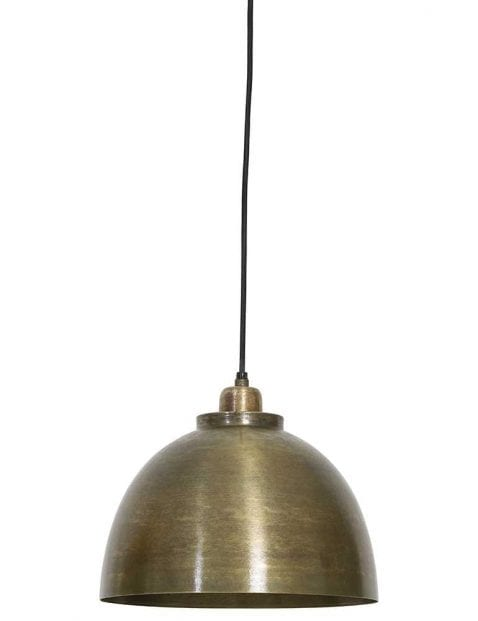Industriële bronzen hanglamp