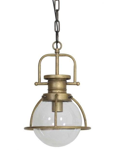 Industrieel lampje brons