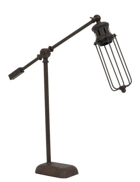 Landelijk bruin tafellampje