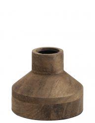 Landelijk houten tafellampje