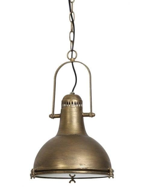 Landelijke bronskleurige hanglamp