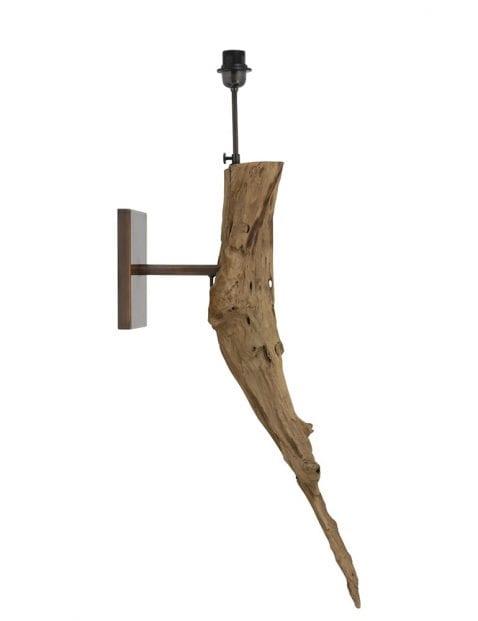 Landelijke wandlamp met grof hout