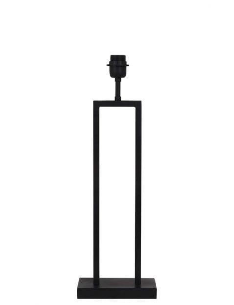 Lange strakke lampenvoet zwart