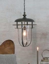 Langewerpige-lantaarn-hanglamp-zwart-1