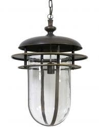 Langewerpige lantaarn hanglamp zwart