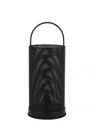 Langwerpige lantaarnlamp zwart