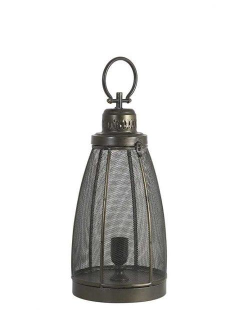 Lantaarn tafellamp donker brons