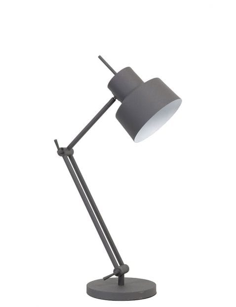 Mat grijze tafellamp verstelbaar