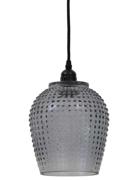 Moderne hanglamp glas met patroon