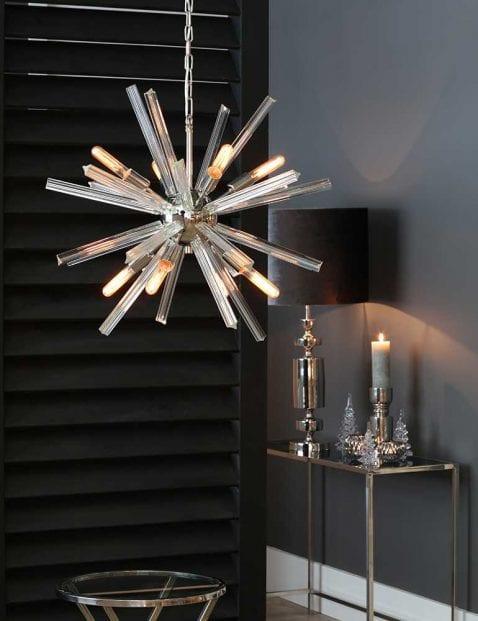 Opvallende-designer-hanglamp-wit-met-staal