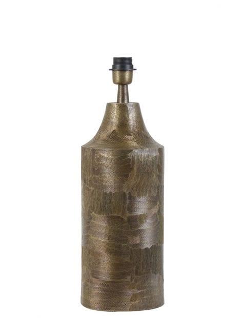 Robuste bronzen cilindervormige lampenvoet