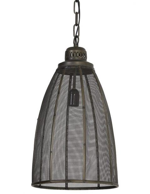 Rustieke hanglamp brons