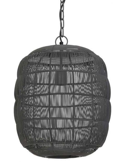 Sfeervolle grijze hanglamp