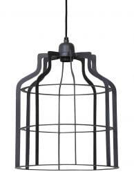 Simplistische draadlamp grijs