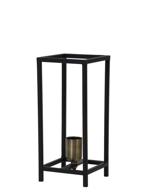 Simplistische vierpotige tafellamp zwart