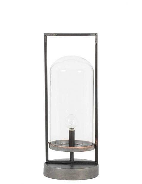 Stalen tafellamp lantaarn