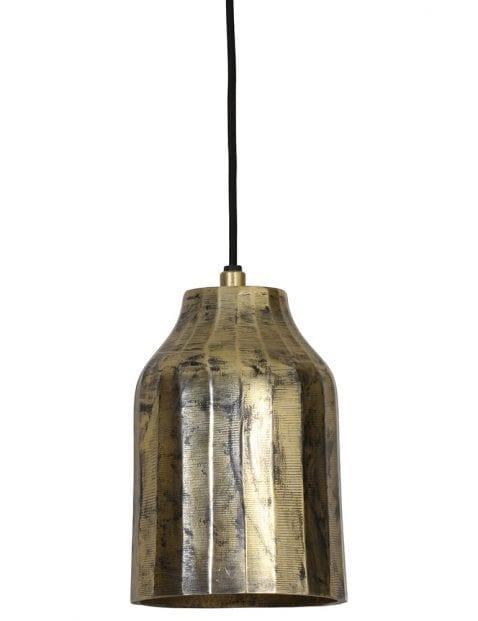 Stoere goudachtige hanglamp