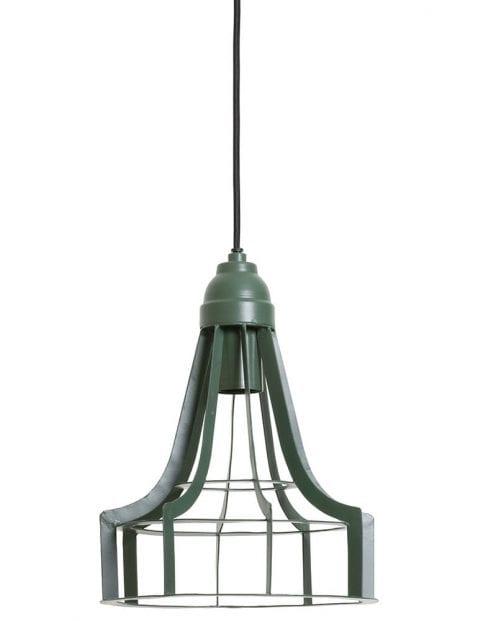 Stoere groene hanglamp industrieel