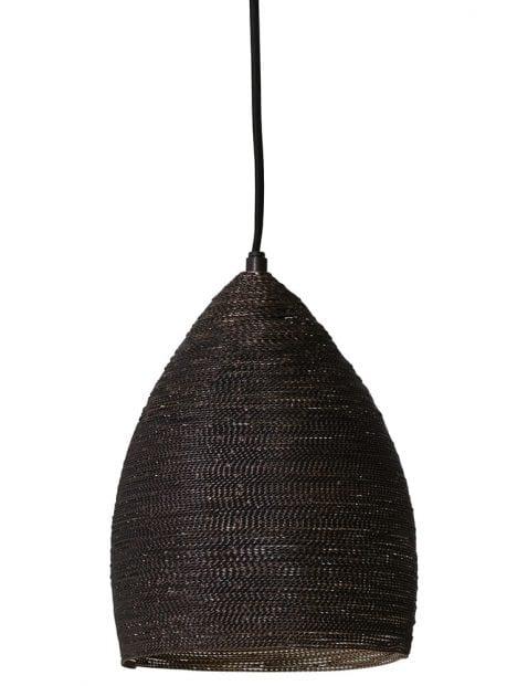 Stoffen hanglampje zwart