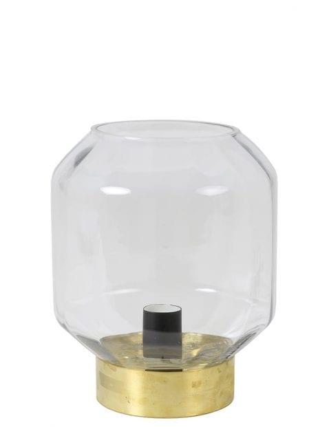 Tafellamp met glazen bol en gouden detail