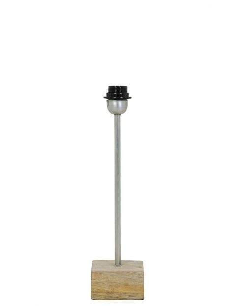 Tafellamp met licht hout en staal