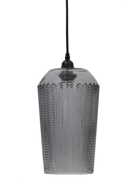 Uniek glazen hanglampje met patroon