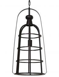 Uniek lantaarnvormig lampje zwart