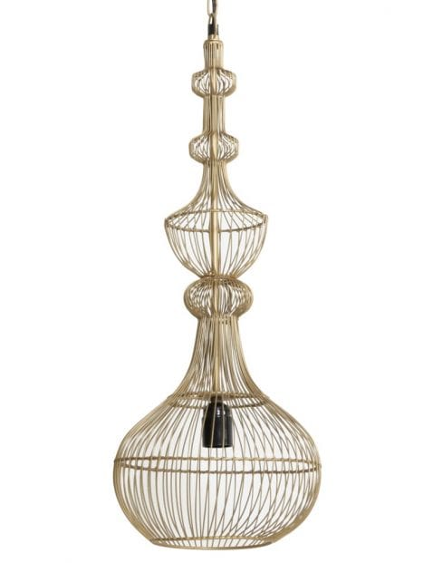 Unieke design hanglamp goud