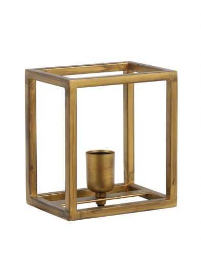 Vierkant gouden wandlampje
